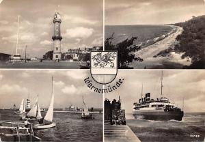 Warnemuende Schiff Leuchtturm Lighthouse Boats Bateaux Plage Panorama