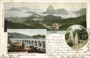 brazil, RIO DE JANEIRO, Grand Hotel International, Aqueducto (1905) Postcard