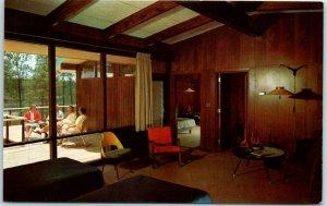 Southern Pines, NC Postcard MID-PINES GOLFOTEL Motel Room View c1950s Unused