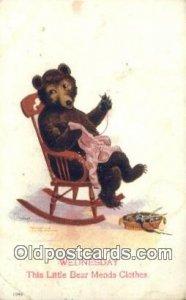 Wednesday Busy Bear Series 79, The Ullman MFG 1906, Bear Postcard Bears, trag...