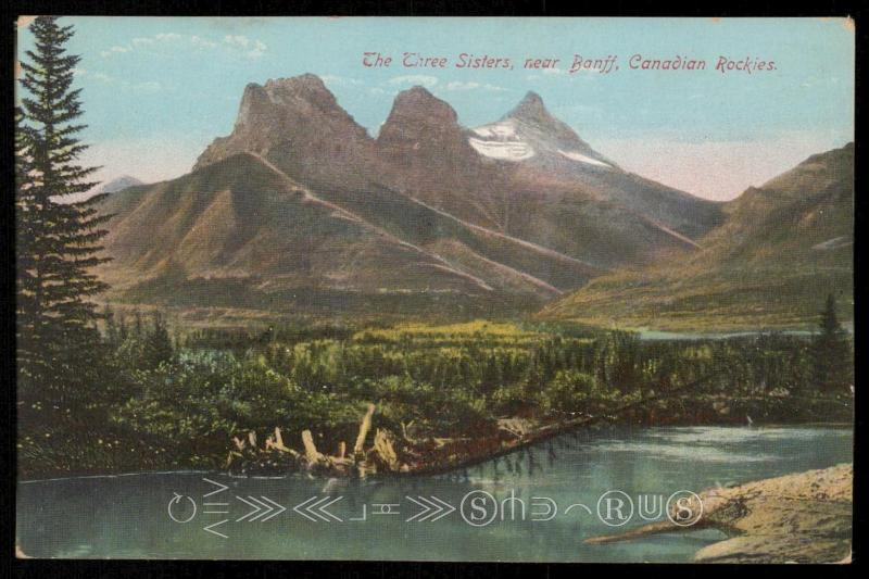 The Three Sisters, near Banff, Canadian Rockies.