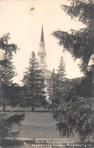 Middlebury Vermont College Church Real Photo Vintage Postcard JF235237