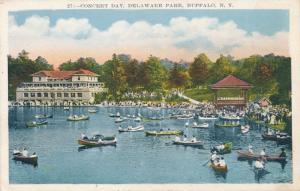 Boating at Concert Day, Delaware Park - Buffalo NY, New York - WB