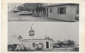 DRAPER , South Dakota , 1950s ; STANDARD Gas Station & Western Courts
