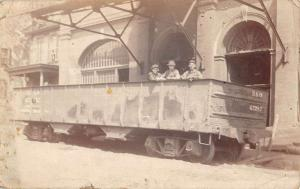 Wheeling West Virginia Men Train Trolley Mining Real Photo Postcard K88284