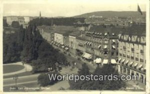 Real Photo Karl Johansgate, Slottet Oslo Norway 1936