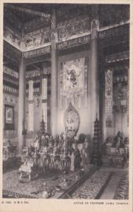 Chicago World's Fair 1933 Altar In Chinese Lama Temple