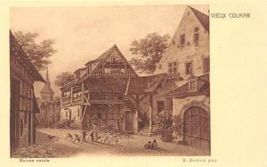 France Vieux Colmar Maison Natale M. Hertrich Pinx House