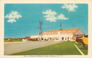 Allentown-Bethlehem Airport~Pennsylvania~1930s Planes~Windsock~Hangar~Linen PC