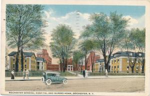 Rochester General Hospital and Nurses Home - Rochester, New York - pm 1917 - WB