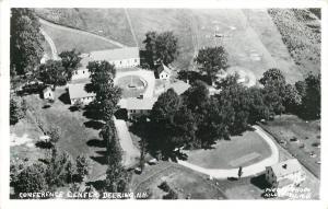 Deering New Hampshire~Conference Center~Baseball Diamond~1964 Birdseye~RPPC