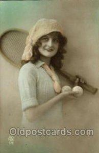 Tennis 1920 postal used 1920