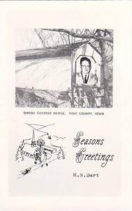 RP, Owens Covered Bridge, Polk County, Iowa, 1920-1940s