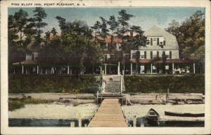 Point Pleasant NJ Pine Bluff Inn c1920 Postcard