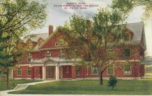 ST. PETER , Minnesota , 1900-10s ; State Insane Hospital , Nurses Home