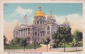 Iowa Des Moines State Capitol Building 1934 Curteich
