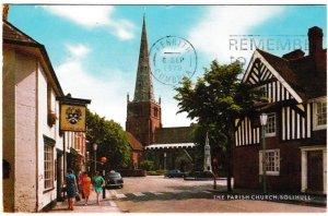 Postcard Warwickshire Solihull The Parish Church