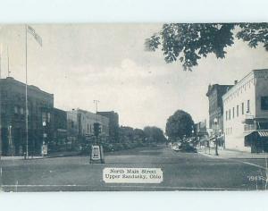 1940's SHOPS ALONG STREET Upper Sandusky Ohio OH G5390