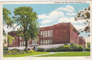 CLOUMBIA, Kentucky; Graded and High School, 30-40s