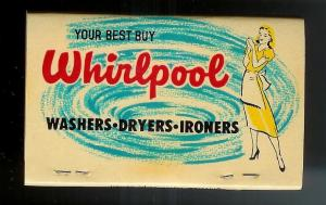 WHIRLPOOL/KEPS ELECTRIC 1950's Full Unstruck Matchbook