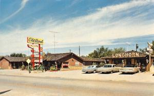 Henryetta OK 1967 Pontiacs Parked at Old Corral Courts Motel~Longhorn~Route 66?