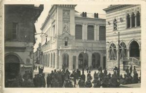 Italy Italia Udine durante l`ivasione Piazza V E. Guardia Umberto I procession