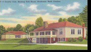 North Carolina Henderson Country Club Showing Bath House