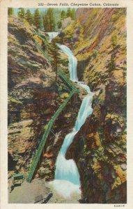 Seven Falls in Cheyenne Canon - Canyon - Colorado - Linen