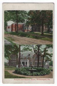 Williamsport, Pennsylvania, Views of The Hospital & Nurses' Home, 1908
