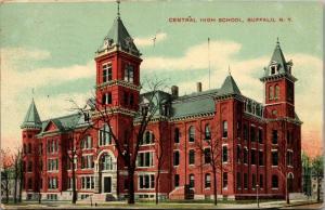 Buffalo New York~Central High School~2nd Empire Architecture~1911 Postcard