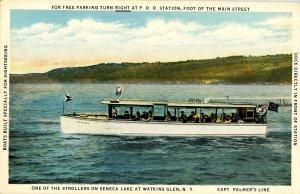 NY - Watkins Glen. Sightseeing Boat on Seneca Lake