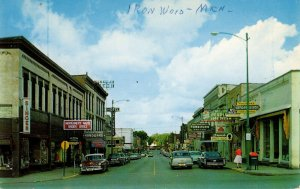 Ironwood, Michigan - A view of Downtown on Suffolk Street - c1950