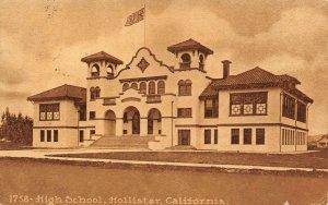 High School, Hollister, CA San Benito County 1914 Vintage Postcard