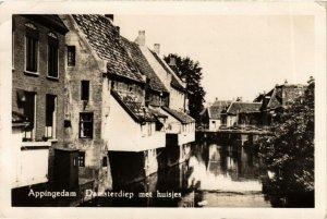 CPA APPINGEDAM Damsterdiep met Huisjes NETHERLANDS (705978)