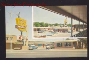 AMARILLO TEXAS ROUTE 66 SAHARA SANDS MOTEL 1950's CARS VINTAGE POSTCARD