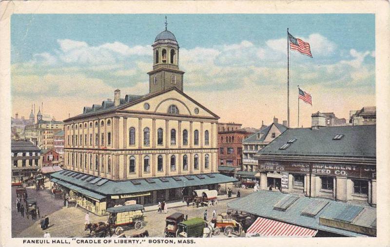 Faneuil Hall, Cradle Of Liberty, Boston, Massachusetts, 1910-1920s