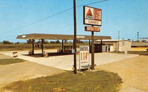 GAINES TRUCK STOP Boyle, MS Roadside CITGO Gas Station c1960s Vintage Postcard
