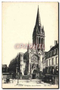 Old Postcard The Bell Tower Saint Pierre Caen