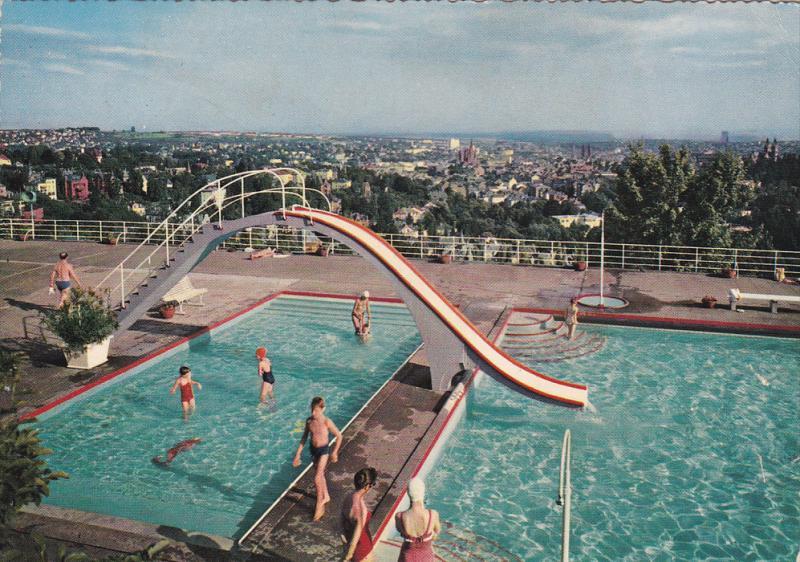 Opelbad Am Neroberg, WIESBADEN (Hesse), Germany, 1950-1970s