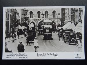 Southampton TRAMCAR 11 in HIGH STREET c1926 RP Postcard by Pamlin Repro Card 11