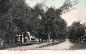 Liberty Street, Ripon, Wisconsin, Early Postcard, Used in 1910