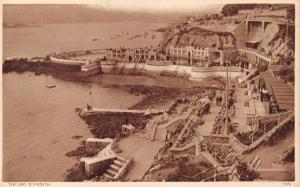 PLYMOUTH DEVON UK THE LIDO~SEPIA POSTCARD