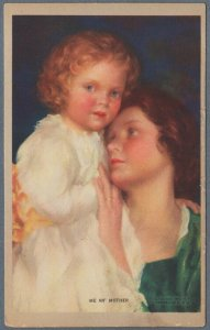 Old American Postcard Mother With Child Maternity ~ Me An' Mother
