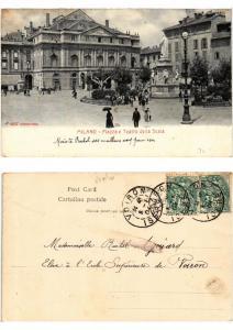CPA MILANO. Piazza e Teatro della Scala. ITALY (521766)