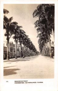 Paramaribo Suriname Netherlands Guiana Street Scene Real Photo Postcard J68869