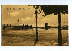 131463 ITALY NAPOLI Via Caracciolo La Rotonda Vintage postcard