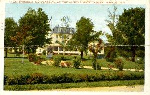 Canada - Nova Scotia, Digby. Myrtle Hotel         (crease)