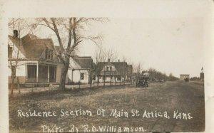 RP: ATTICA , Kansas , 1900-10s ; Residence Section of Main Street
