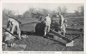 U.S. Army, 105mm Howitzer, World War II Era Postcard, Army Signal Corps Photo