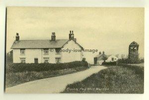 tp6461 - Ruins of Windmill , Peg Mill , Warton , Lancashire - postcard